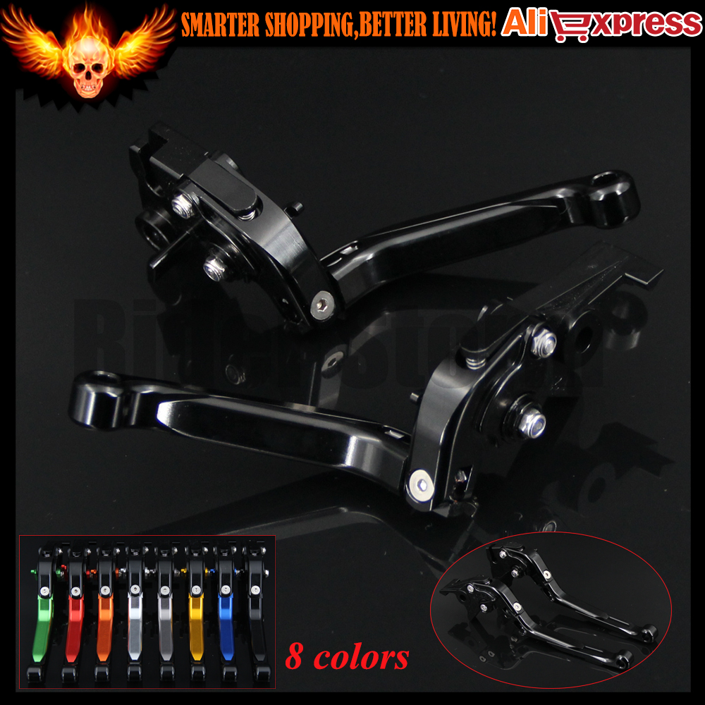 Full Black 8 Colors CNC Adjustable Folding Extendable Motorcycle Brake Clutch Levers For Suzuki Bandit 650S 2015 new brand 8 colors optional brake lever black folding