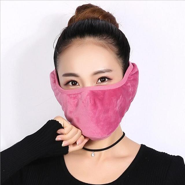 Crystal velvet men women Ear protective mouth mask Windproof earmuff anti dust winter masks Breathable Anti Haze Flu Face masks 3