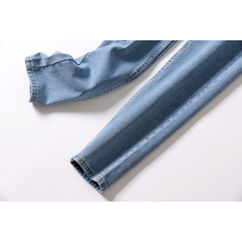Free Shipping 2019 New Slim Pencil Pants Vintage High Waist Jeans New Womens Pants Full Length Pants Loose Cowboy Pants C1332 #5