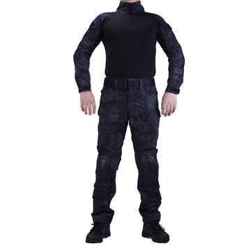 Camouflage BDU TYP uniformes de Combat chemise avec broek et coude et genouillères militaire jeu cosplay uniforme ghilliekostuum