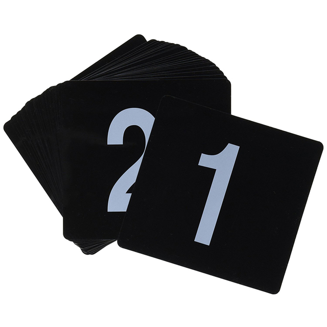 Pcs Double Side Plastic Table Numbers White On Black Number - Restaurant table accessories