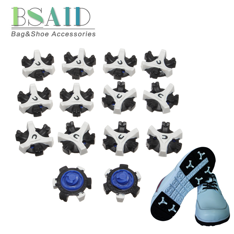 BSAID 14pcs/lot TPR Golf Shoes Spikes Non-slip Replaceable Studs Cleats Screw Pins Fast Twist Spikes Golf Practice Accessories