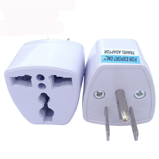 1000 Pcs Us Plug Home Travel Adapter Portable Electrical Wall Socket 3 Pin Eu Au Uk Italy Jack To Charger Converter Universal In International
