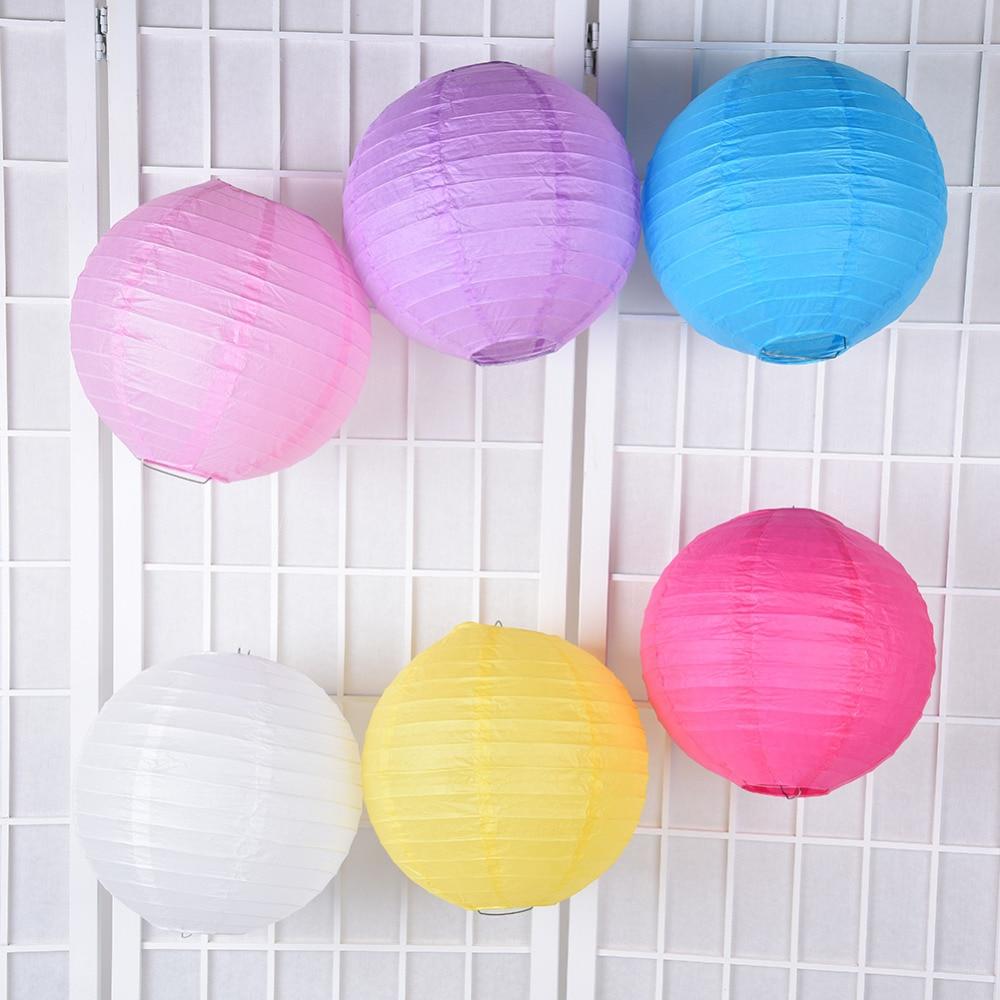 20x lilac paper pom poms white lanterns wedding party baby shower bar decoration