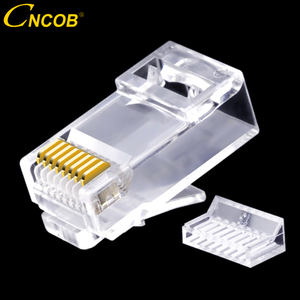 Image 2 - CNCOB двухкомпонентный сетевой разъем rj45, гигабитный Ethernet сетевой кабель, соединительный модульный разъем Cat6 utp с кристаллической головкой и золотым покрытием