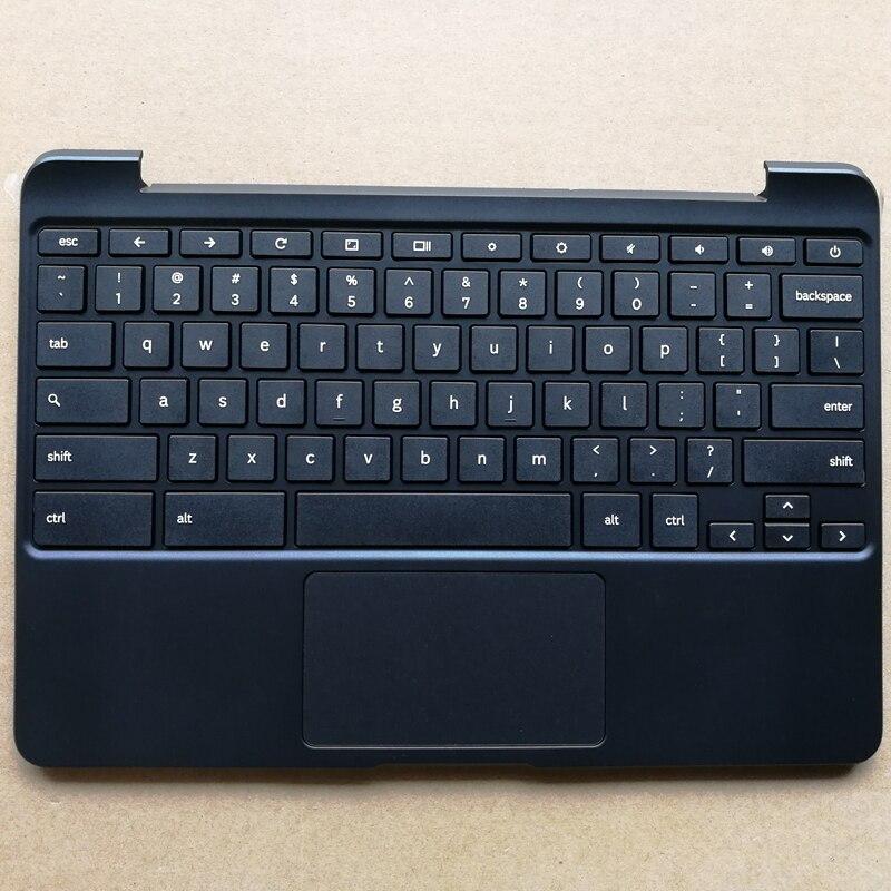 США Новая Клавиатура ноутбука с тачпадом Упор для рук для samsung Chromebook XE503C12 BA98-00603A черный