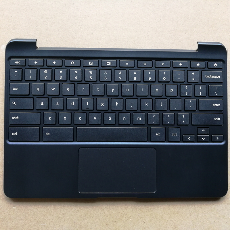 US new laptop keyboard with touchpad palmrest for Samsung Chromebook XE503C12 BA98-00603A Black