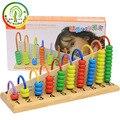 Детские деревянные игрушки  детские счетные бусины  математические Обучающие игрушки  математические игрушки  обучающая игра  арифметика