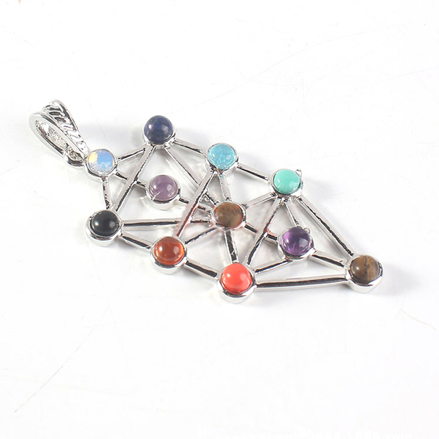 Sephiroth Pendant Kabbalistic Symbol Jewelry Jewish Kabbalah Emblem