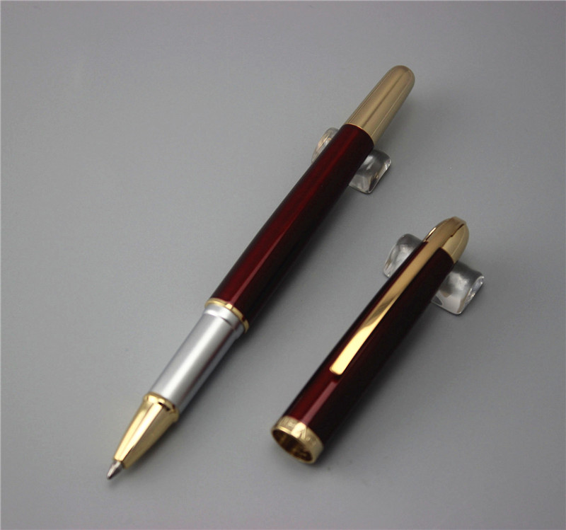 red JINHAO 606 ballpoint Pen School Office supplies man women roller ball pens luxury metal caneta send 2pcs refillsred JINHAO 606 ballpoint Pen School Office supplies man women roller ball pens luxury metal caneta send 2pcs refills