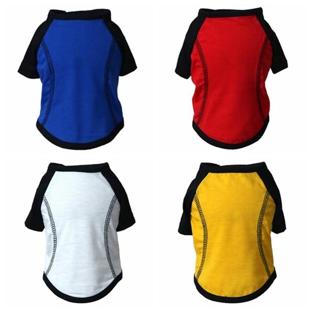 Deportes de Verano Chaleco de perro de algodón camiseta sudadera Jersey ropa para mascotas para pequeño mediano grande perro grueso T- shir