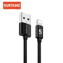 Suntaiho Red Lighting USB Cable 1m/2m for iPad Air/pro/mini Data USB Charging Cable for iPhone IOS 11 10 9 Fast Charging Cord