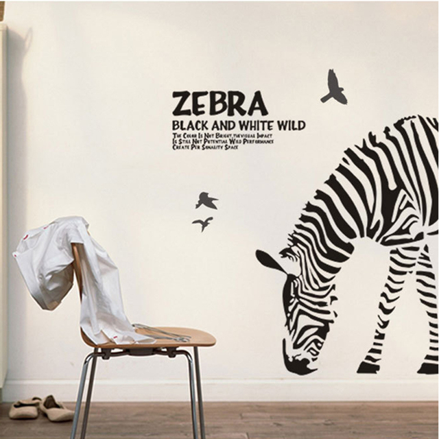 Zebra Wall Sticker Animal Quotes Wall Decal Vinyl Glass Stickers For Living  Room Decoration Home Decor