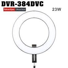 Falcon Eyes Brand 384 Ring LED Panel 3000-5600K Lighting Video Film Continuous Light W/Camera Bracket/ filter DVR-384DVC
