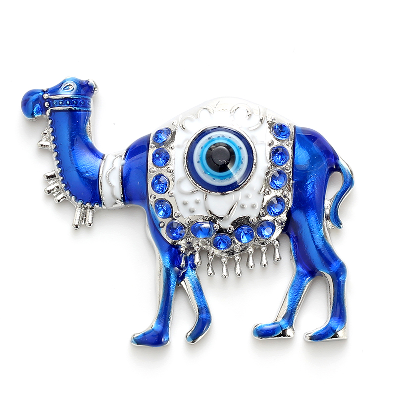 Alloy Lucky Evil Eye Camel Of Tang Tri Color Charms  Round  Strong Magnets Rare Earth Neodymium Magnet Car Stickers Or Fridge Ma