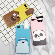 hot deal buy for samsung galaxy s8 cover 3d cute cartoon we bare bears brothers funny toys soft phone case for samsung galaxy s8 plus case