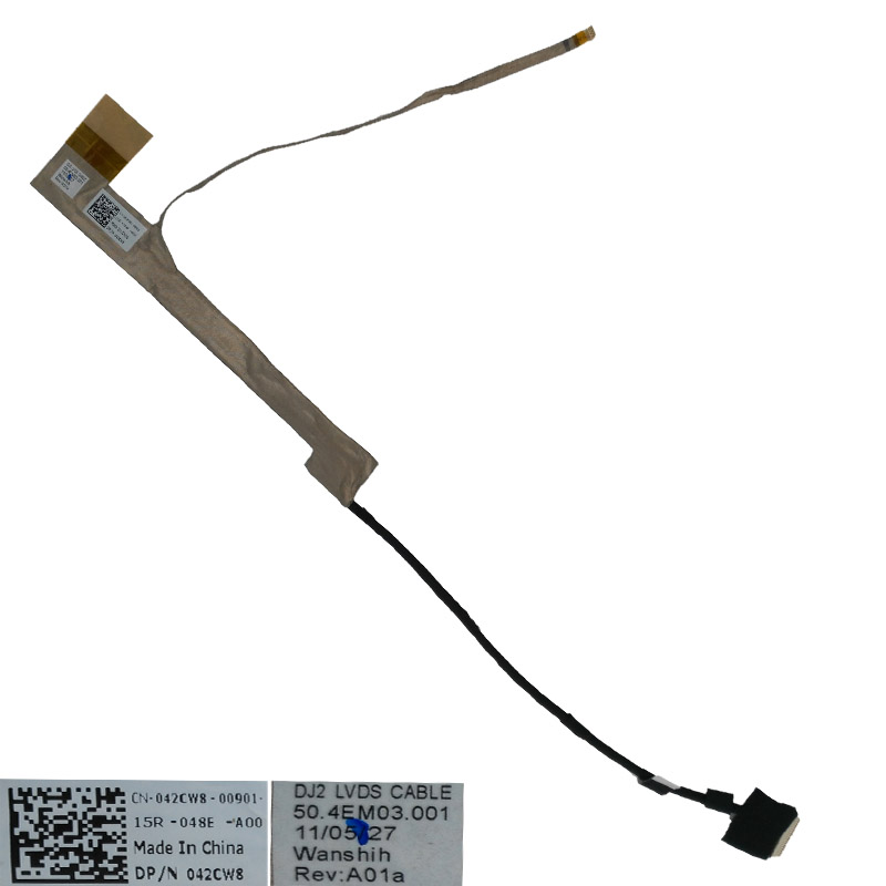 Cable Length: As Photo Show, Color: Black Computer Cables Laptop Cable for DELL N5030 M5030 N5020 15V 50.4EM03.101 042CW8 50.4EM03.201 Notebook LED LVDS Cable