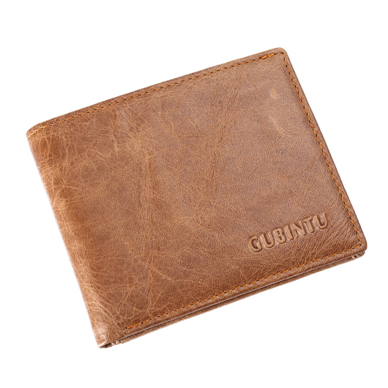 2017 new wallet card organizer money clip coin pocket genuine leather brand wallets concise purse men soft surface drop shipping