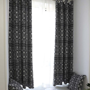 Image 1 - Creative מודרני גיאומטרי הדפסת Blackout וילון לשינה בסלון בית תפאורה הצללת חלון טיפול וילון עיוור קורטינה
