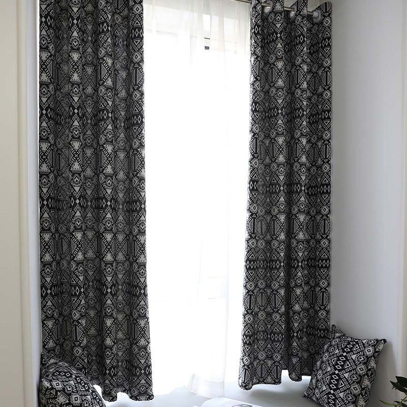 Creative Modern Geometric Print Blackout Curtain for Livingroom Bedroom Home Decor Shading Window Treatment Drape Blind Cortina-in Curtains from Home & Garden