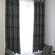 Creative Modern Geometric Print Blackout Curtain for Livingroom Bedroom Home Decor Shading Window Treatment Drape Blind Cortina