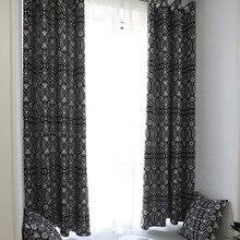 Twórczy nowoczesny geometryczne druku Blackout zasłony do salonu sypialni wystrój domu cieniowania leczenia okna serwet niewidomych Cortina