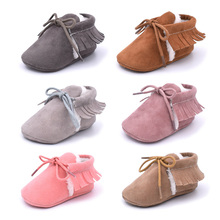 Newborn Shoes Boy Girl Baby Shoes Tassel Soft Bottom Comfortable Infant Toddler First Walkers 0-18M