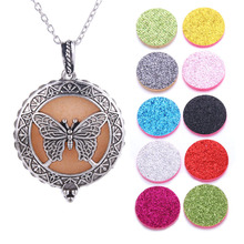 Aroma Diffuser Necklace Open Antique Vintage Lockets Pendant Perfume Essential Oil Aromatherapy Locket With Pads