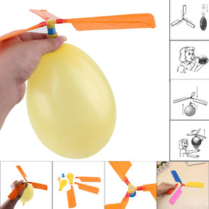 2018 Kids Balloon Helicopter Flying Toy Child Birthday cute Party Bag Stocking Filler Gift Toy Balls Outdoor Gift Fun Sports(China)