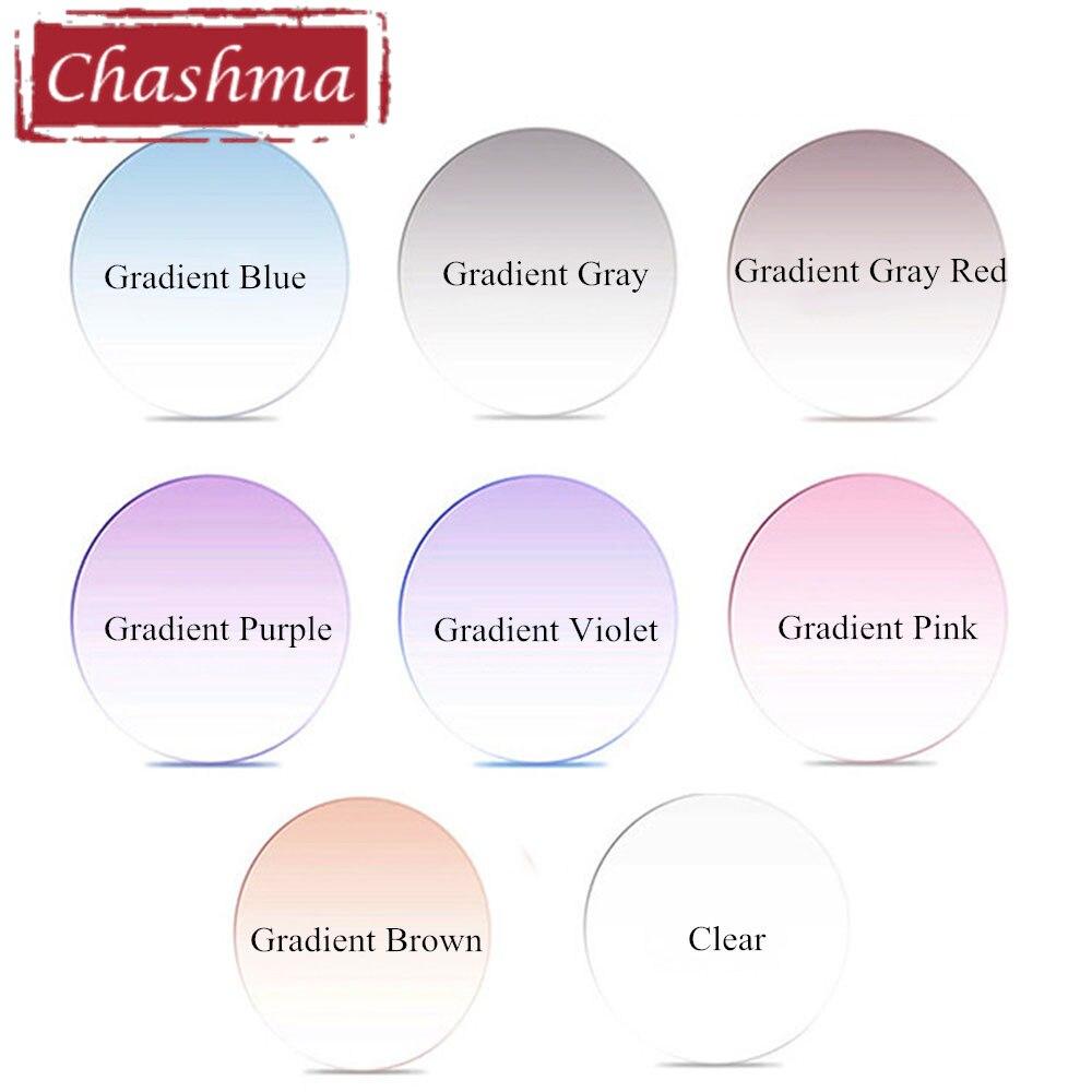 Chashma Marque Qualité Anti Réfléchissant MR-8 UV 400 Prescription 1.61 Index Teinte des Verres Violet Rose Gris Lentilles De Couleur