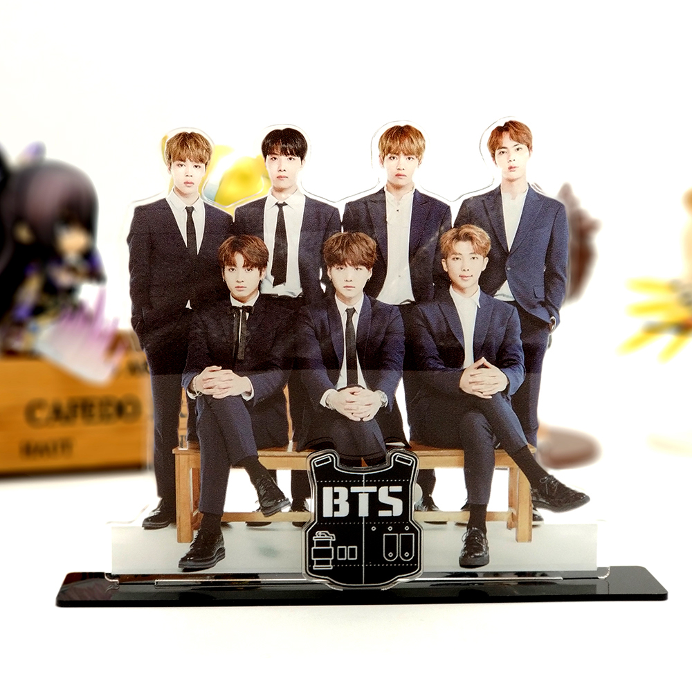 Love Thank You BTS Bangtan Boys formal wear group family acrylic stand figure model plate holder cake topper idol