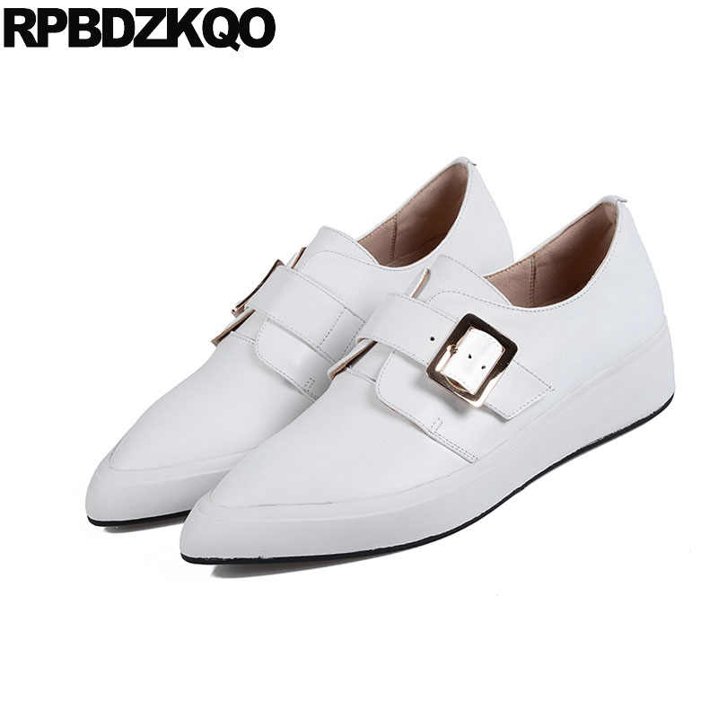 Femmes 2018 Or Formateurs Sneakers Chaussures Chinois Dames Appartements Casual Automne blanc Designer Printemps Pointu Or Chine Marque Bout Blanc A5Fx8wq