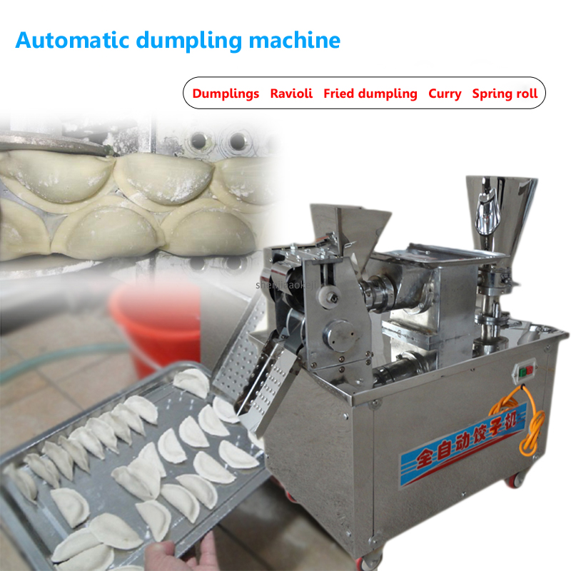 Commercial Dumpling Machine Fully Automatic For Small Restaurant Dumpling Machine Multi-function Curry Spring Roll Machine 220V