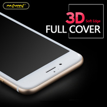 NAFUMI 9H 3D Curved Carbon Fiber Soft Edge Tempered Glass For iPhone 7 Plus Phone Screen Protector Film
