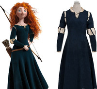 Brave Merid cosplay Princess Merida Cosplay Costume Outfit Halloween party princess cosplay clothes For Girl Fancy drama Dresses