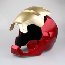 Iron Man Adult Motorcycle Helmet Cosplay Mask Touch Sensing Mask with  Collectible Model Toy 1:1 High Quality in stock the avengers iron man helmet cosplay touch sensing mask with led light marvel superhero iron man adult motorcycle abs helmet