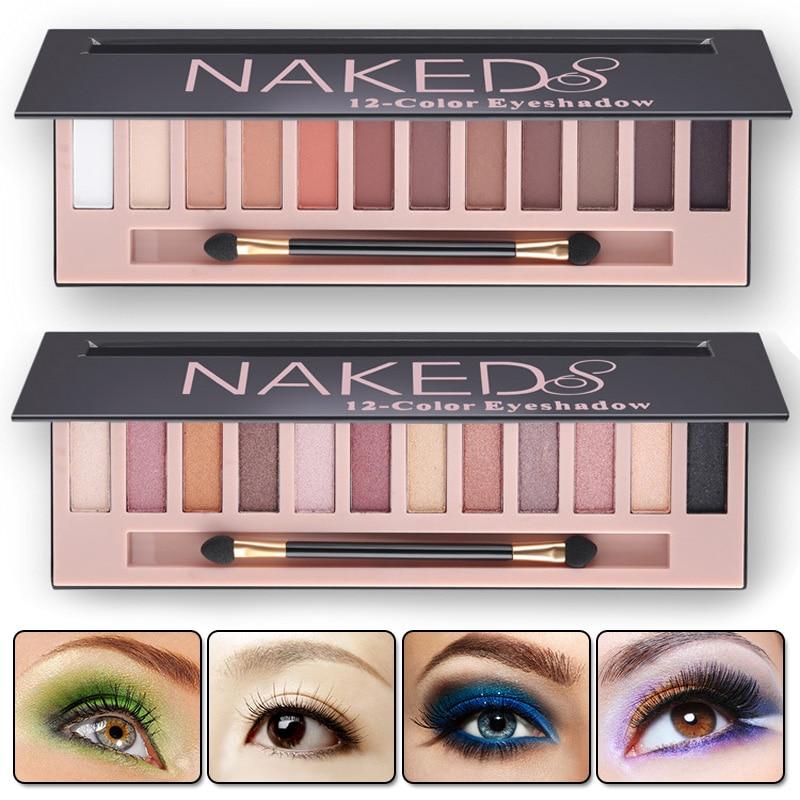 2017 Cosmetic Makeup Shimmer Matte Naked Palette Make Up Colors Pigment Eyeshadow Palette Sombras Nudes Matte
