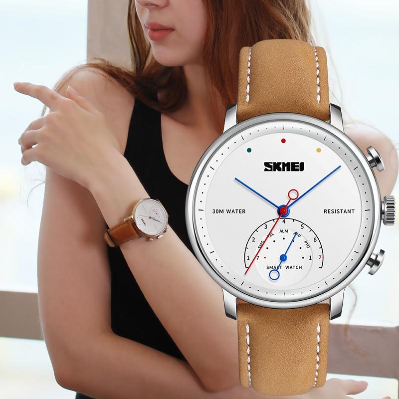 SKMEI модные и повседневные умные мужские и женские часы Blueteeth фотография пара Quatz наручные часы H8 - 3
