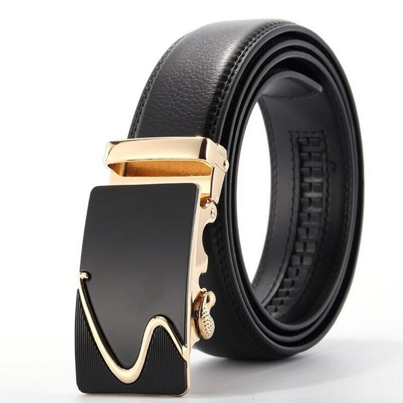 Belt 2017 New Arrival Men Automatic Buckle Brand Designer Leather Belts For Business Men Which High