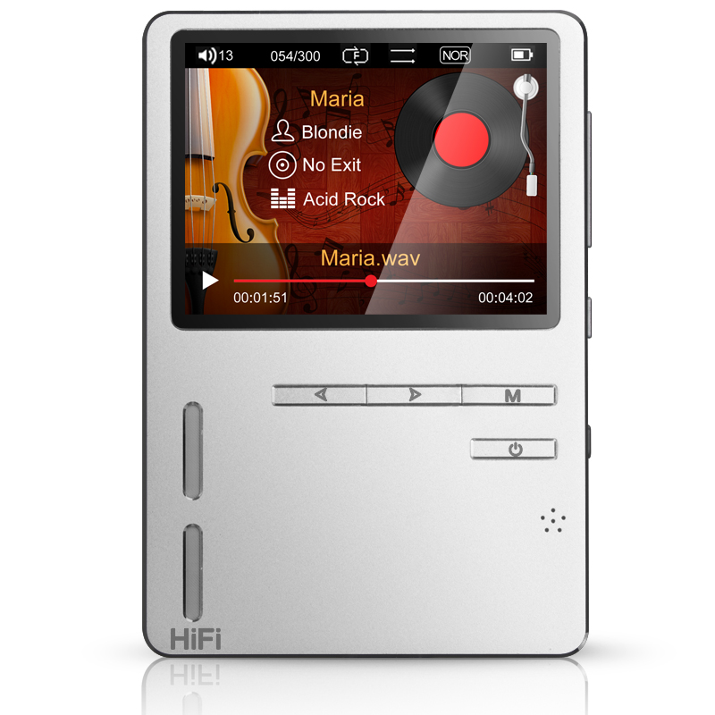 16826TW ONN X6 8GB Metal Lossless Music MP3 HiFi Player 24bit 192KHZ Double Bass Speaker TFT