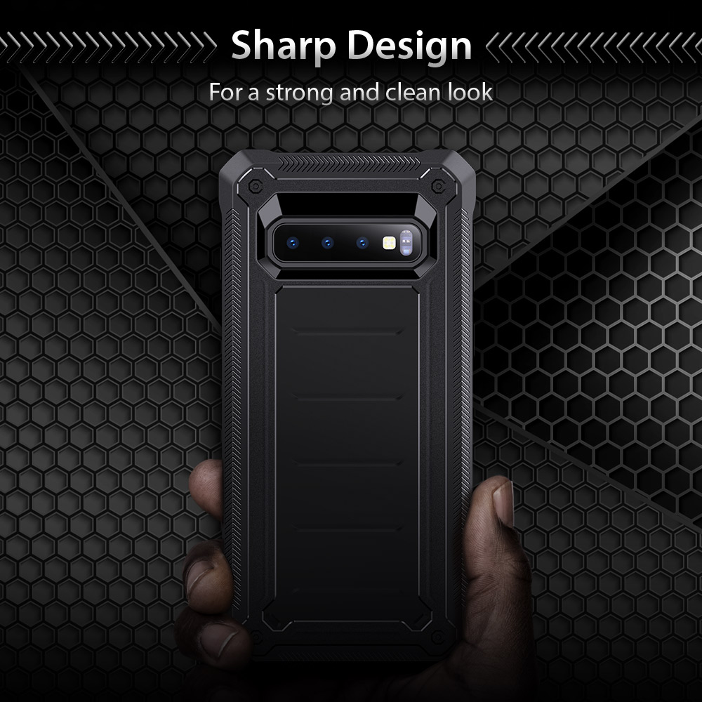 Case For Samsung Galaxy S10 Cover TPU Case With Thicker Corners Sharp Design Shockproof Non-Slip Case For Samsung Galaxy S10