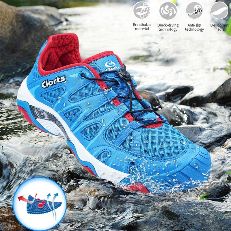 Clorts Chaussures pour De Natation À séchage Rapide Hommes Plage Chaussures PU Léger Chaussures D'eau 3H025A