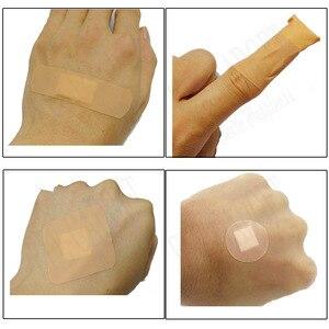 Image 3 - Vendajes de tirita antibacterias para uso médico, adhesivo impermeable para heridas, suministros de botiquín de primeros auxilios para viajes en el hogar, paquete de 100 unidades