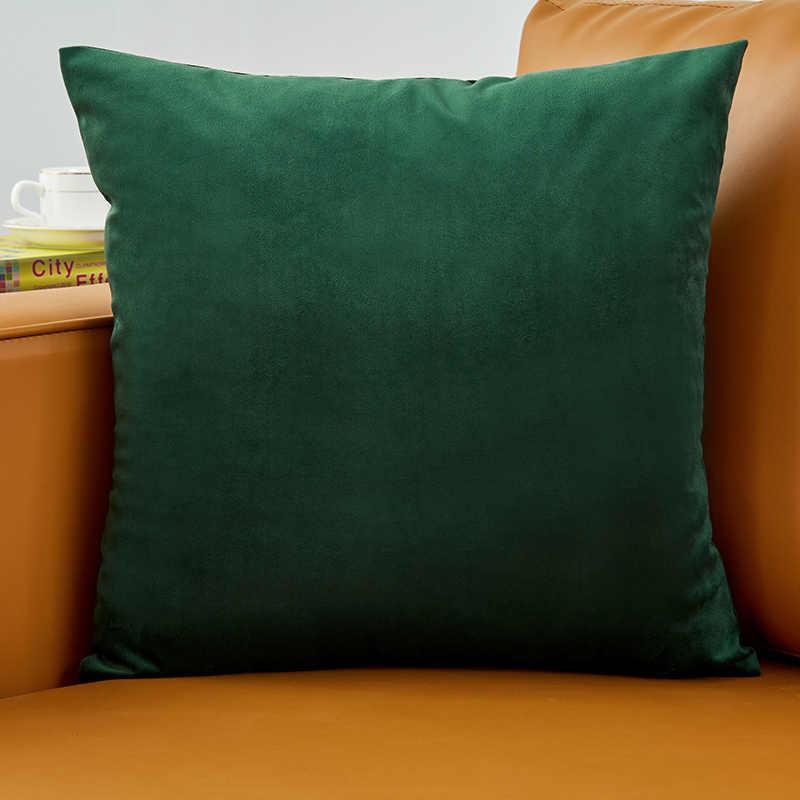 Green Throw Pillows Velvet Luxury Sofa Decorative Funda Cojin 45*45cm  Cushions Cover Living Room Home Decor Almofadas Modern