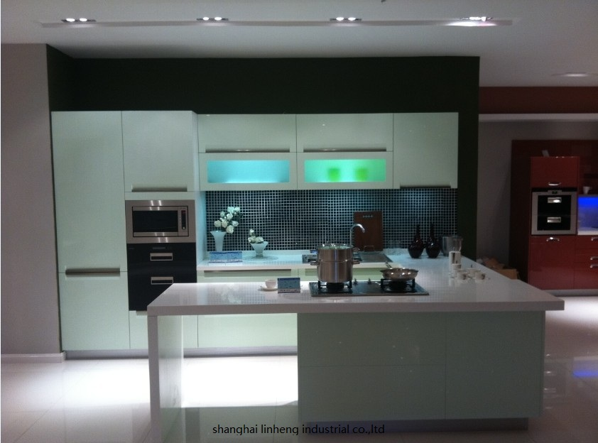 High Gloss/lacquer Kitchen Cabinet Mordern(LH-LA035)