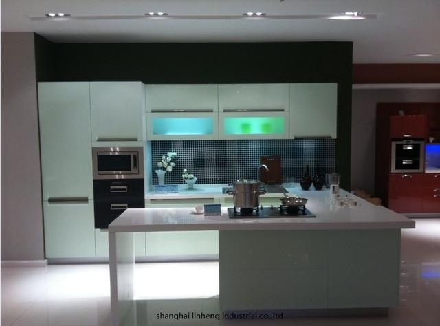 Tinggi Gloss Lacquer Dapur Kabinet Mordern Lh La035