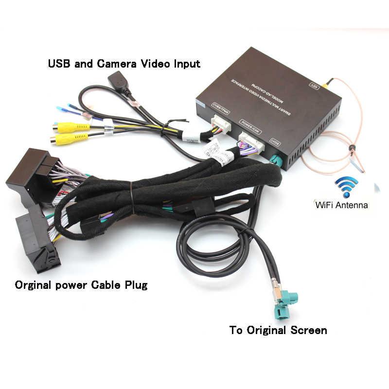 Sinairyu Wireless Apple Carplay/Android auto Solution for Audi Q5 A4 A5 A6  A7 Q7 A3 Q3 B9 MMI with Reverse Camera for Audi