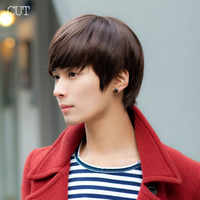New Fashion Handsome Sunshine Boys' Short Synthetic Hair Wigs For Men Hair Pad Peluca Perucas Perruque
