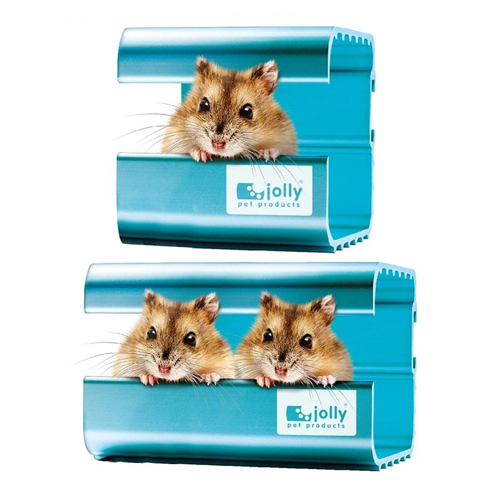 1PCS Summer Pet Cooling House Hamster Cage Aluminum Alloy Heat Absorption Nest Room Chinchilla Hamster Pet Cooling Bed
