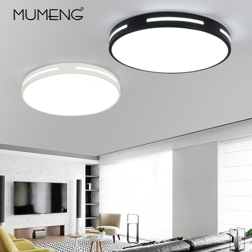 Modern LED Ceiling Light Creative Simple Round Lighting Fixture Office Bedroom Living Room Study Room Nordic